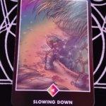OSHO禅タロットのSLOWING DOWN(スローイング・ダウン)