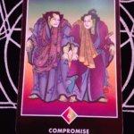 OSHO禅タロットのCOMPROMISE(妥協)