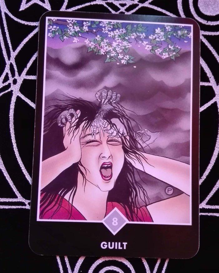 OSHO禅タロットのGUILT(罪悪感)