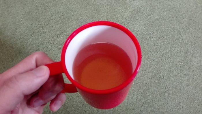 伝統爽快なた豆茶。多めのお湯で淹れました。芳ばしい香り!