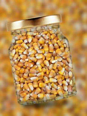 ビンの中のポップコーン豆