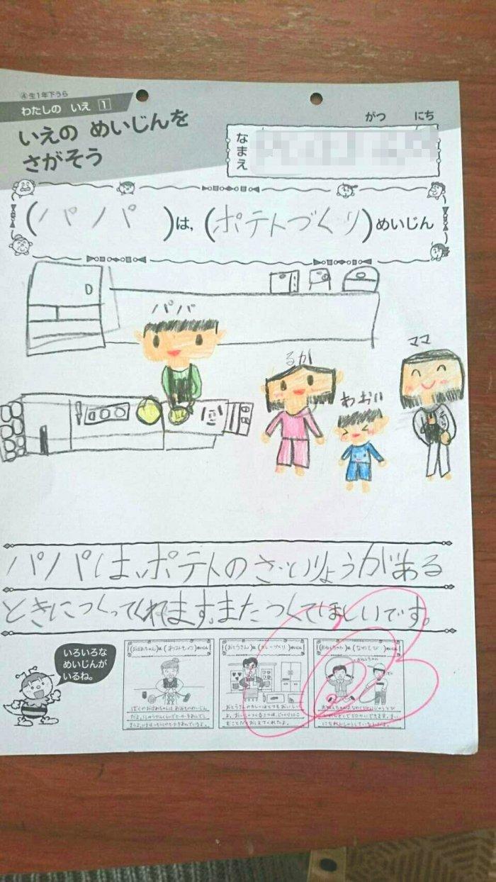7歳の娘さんが書いた絵