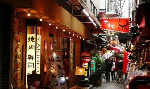 鶴橋の活気がある写真