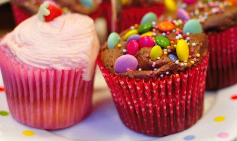 カップケーキで気分も楽しくなれる